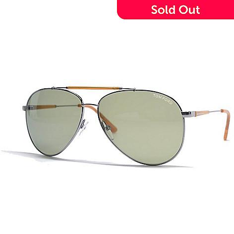 387502a8801ca 728-400- Tom Ford Light Ruthenium Aviator Frame Designer Sunglasses w  Case