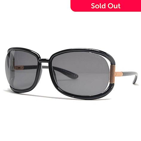 fa88b282d514c 728-405- Tom Ford 62mm Black Oval Frame Sunglasses w  Case