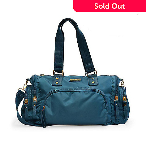 728-541- Adrienne Vittadini Nylon Duffel Bag w  Removable Strap 2145011b1b107