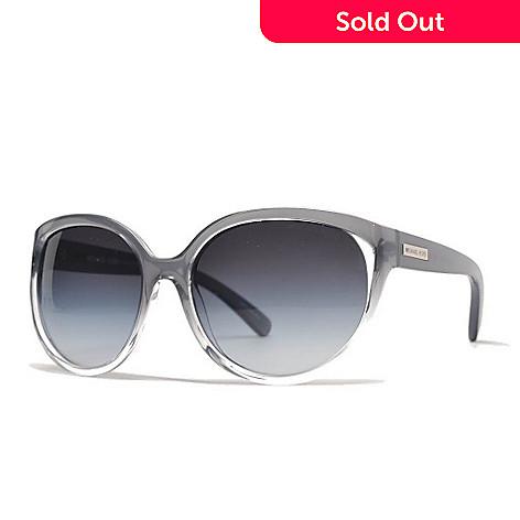Michael Kors Smoky Lens Clear Frame Oversized Oval Sunglasses w ...
