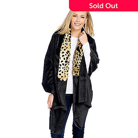 63e6c40f381b Donna Salyers  Fabulous-Furs Faux Fur   Plush Travel Cuddle Wrap - EVINE