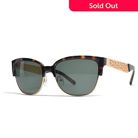 cf1ab961bf Tory Burch Faux Tortoiseshell   Gold-tone Horned Sunglasses w  Case ...