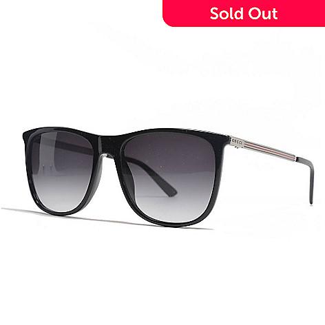 866c937e2b 729-089- Gucci Men s Black Rectangular Frame Sunglasses w  Case