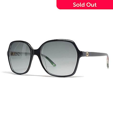 Gucci Black Square Frame Sunglasses w/ Case - EVINE