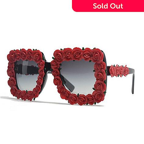 07b529503d86 729-105- Dolce   Gabbana Red Rose Sunglasses w  Case
