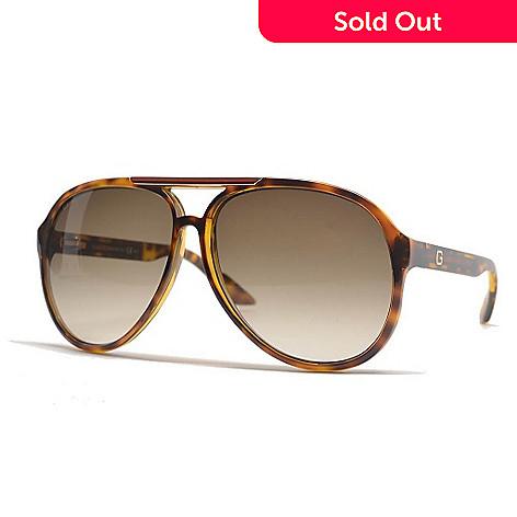 189757104f 730-237- Gucci Unisex Havana Aviator Sunglasses w  Case