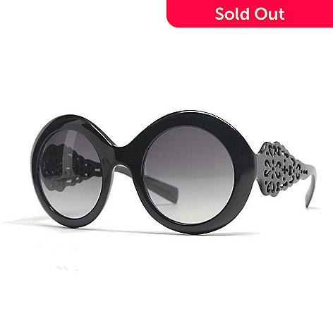 dc7a9a64dd3a Dolce & Gabbana 51mm Cut-out Detailed Round Frame Sunglasses w/ Case ...