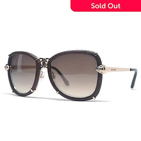 2b1e69175 Roberto Cavalli Aviator Frame Snake Textured Sunglasses w/ Case