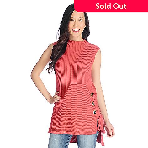 6fc756d2a2 Indigo Thread Co.™ Knit Sleeveless Mock Turtleneck Lace-up Side Hi ...