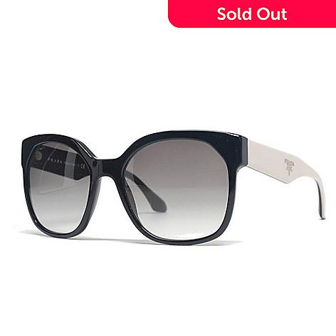 325f9497ce77 731-854- Prada Two-tone Oversized Frame Logo Sunglasses w/ Case