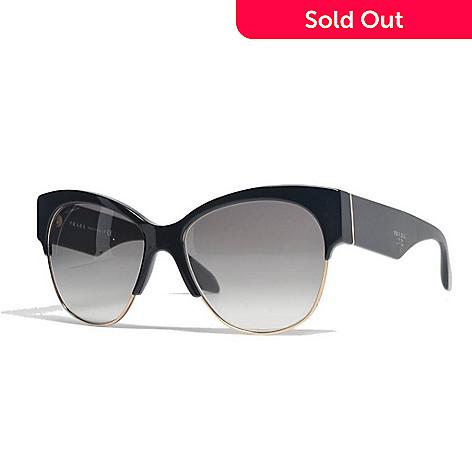 Prada Black Cat Eye Frame Sunglasses w/ Case - EVINE