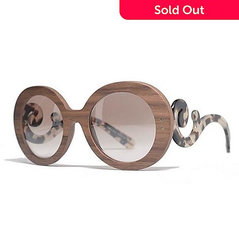 2276ae25599b 731-856- Prada Baroque Swirl Brown Frame Sunglasses w  Case