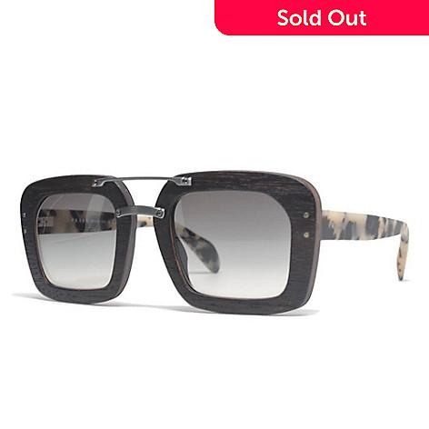 Prada Black Thick Square Frame Sunglasses w/ Case - EVINE