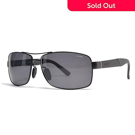 e33bf267ba0 732-004- Gucci Men s Matte Black Rectangular Frame Polarized Lens Sunglasses  w  Case