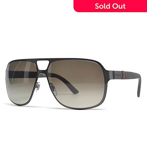 fef24a66c7e 732-006- Gucci Men s Aviator Gradient Lens Sunglasses w  Case