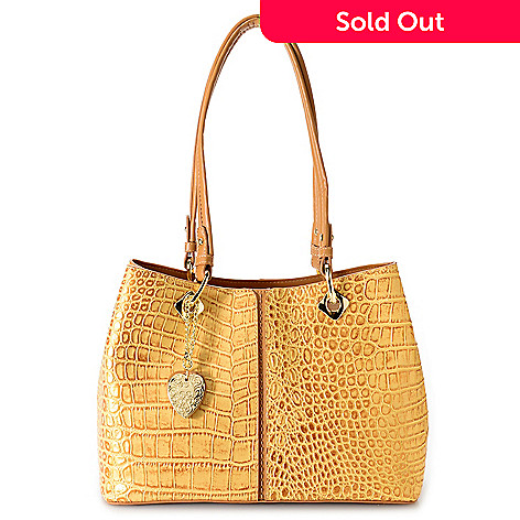 732 029 Madi Claire Tami Croco Embossed Leather Rfid Blocking Per Handbag