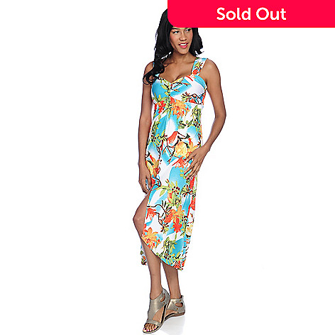 2116ac18fa2 732-848- Isy B.Stretch Knit Sleeveless Sweetheart Neck Hi-Lo Dress