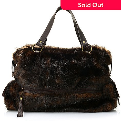 9bb7964840 732-867- Donna Salyers  Fabulous-Furs Faux Fur Dual Side Pocket Weekender