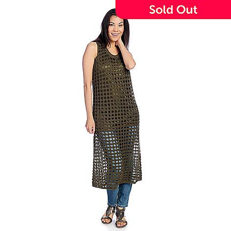 cc50d836e18 Indigo Thread Co.™ Open Stitch Sweater Knit Sleeveless Tunic w ...