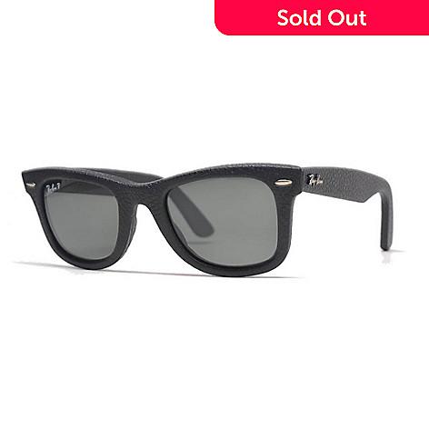 709c6f9598 733-030- Ray-Ban Unisex 50mm Black Polarized Wayfarer Frame Sunglasses w