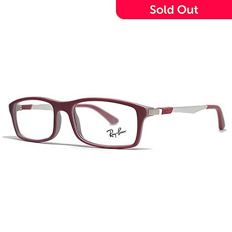 f0c9bdf7f9 Ray-Ban 54mm Red   Grey Rectangular Frame Eyeglasses w  Case - EVINE