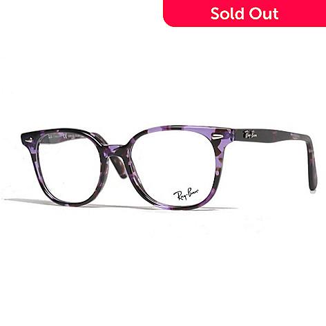 Ray-Ban Violet Marbled Round Frame Eyeglasses w/ Case - EVINE