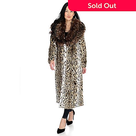 c90f24a57 Donna Salyers' Fabulous-Furs Oversized Collar Hook Front Full Length Coat