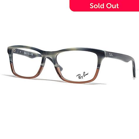 Ray-Ban Blue & Brown Round Frame Eyeglasses w/ Case - EVINE