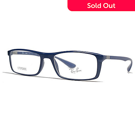7d399eebf7 733-992- Ray-Ban Unisex Blue Rectangular Frame Eyeglasses w  Case