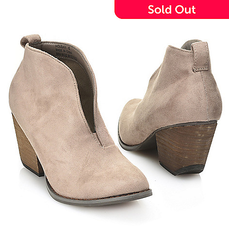 corkys holiday faux leather envelope pull on ankle booties evine