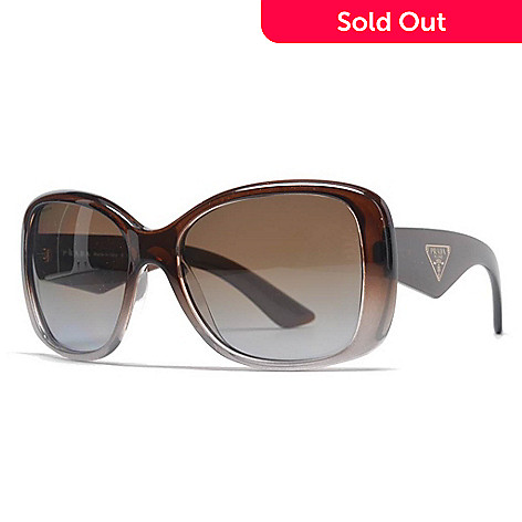 5a6f02c5cab5 734-886- Prada 57mm Brown Square Frame Sunglasses w  Case