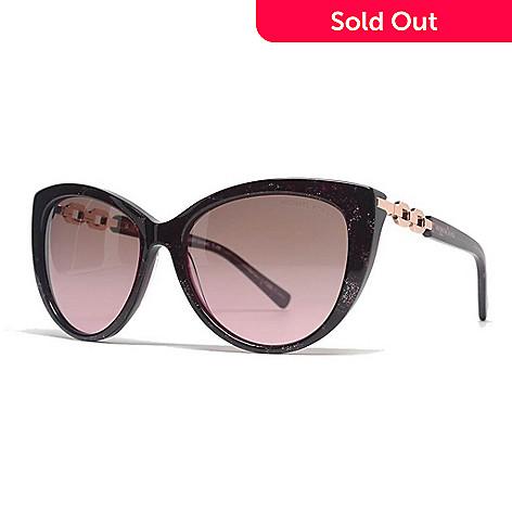 ba2dc7d5f7b 735-232- Michael Kors Pink Sparkle Cat Eye Frame Sunglasses w  Case