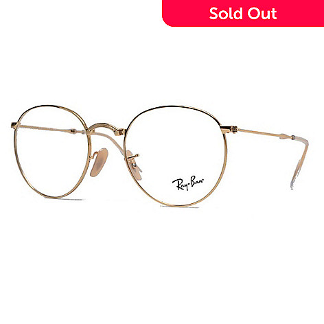 d72cd9ea978b6 ... low cost 735 375 ray ban gold tone round frame eyeglasses w case 90814  2a1c7