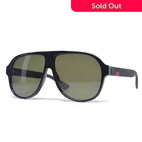 cbad78c0568ab 735-545- Gucci Black Navigator Frame Sunglasses w  Case