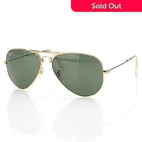 041556e408 Ray-Ban Unisex Gold-tone Foldable Aviator Frame Sunglasses w/ Case ...