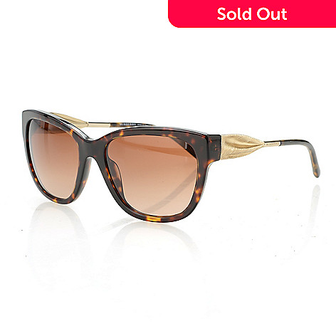 db4fcc591bb06 735-567- Burberry Round Tortoise   Gold-tone Sunglasses w  Case
