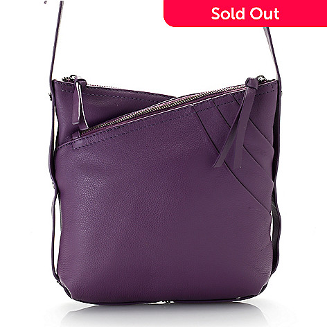 735 779 Kooba Handbags Leather Triple Compartment Slim Crossbody Bag