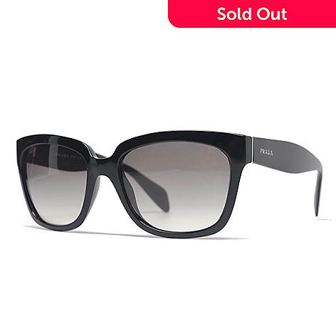 d54f302cc0 735-794- Prada 56mm Gradient Lens Black Rectangular Frame Sunglasses w  Case