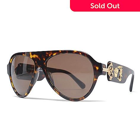 4e1d9a3cc3f9 735-812- Versace 58mm Havana Aviator Frame Sunglasses w/ Case