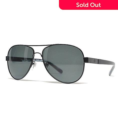 30a1680339c12 736-774- Tory Burch 57mm Black Aviator Frame Sunglasses w  Case