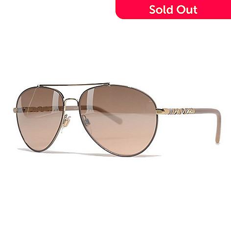 02c7e958791b 736-779- Burberry Gold-tone Aviator Frame Sunglasses w  Case