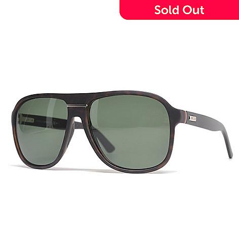 3c8aff0beb4d7 736-787- Gucci Unisex Havana Rectangular Frame Sunglasses w  Case