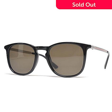 7e790e9b7f 736-788- Gucci Unisex Black Round Frame Sunglasses w  Case