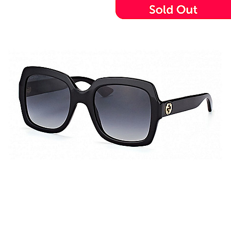 c0d3c417ae 736-794- Gucci Gradient Lens Black Square Frame Sunglasses w  Case