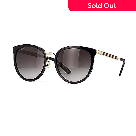 5c1897cca4 736-799- Gucci Black Round Frame Sunglasses w  Case