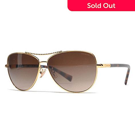 7c5301942a 737-411- Coach Faux Tortoiseshell   Gold-tone Aviator Frame Sunglasses w