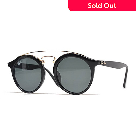 d66fee8f2d 737-530- Ray-Ban Unisex Black Round Frame Sunglasses w  Case