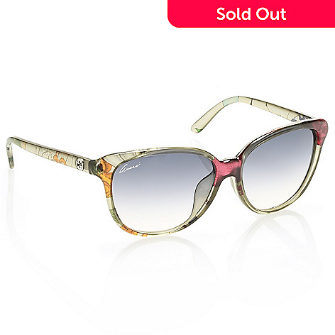 e88981217b5 737-631- Gucci 57mm Floral Detailed Round Sunglasses w  Case