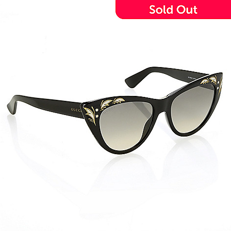41b2feee95 737-636- Gucci Women s Black Cat Eye Sunglasses w  Case