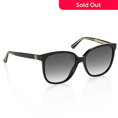3be1af42ac0fd 737-637- Gucci Black Oversized Sunglasses w  Case